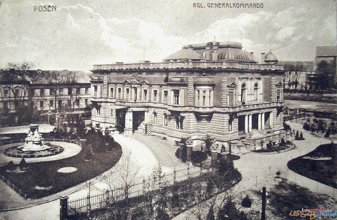 Wojskowa komendantura miasta - Dowództwo Naczelne V Korpusu Armijnego - Poznań - 1912 rok