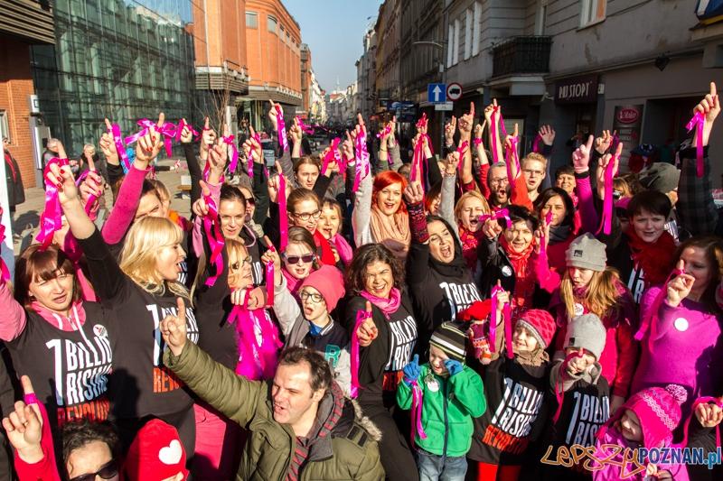 One Billion Rising – Nazywam się Miliard - Poznan 14.02.2015 r.  Foto: LepszyPOZNAN.pl / Paweł Rychter