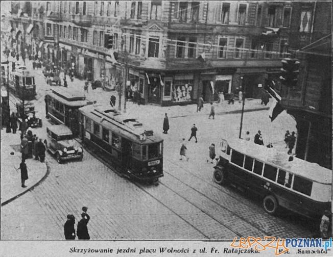 Pl. Wolnosci / Ratajczaka Foto: czasopismo Samochód