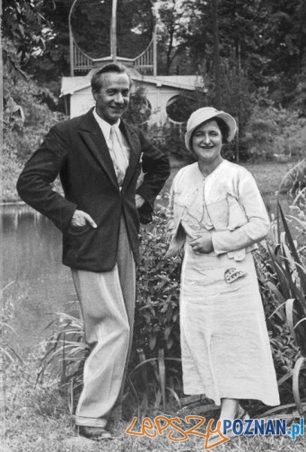 Bolesław Tyllia i skrzypaczka Irena Dubiska, Ciechocinek 1935 Foto: strzelno3.blog.pl