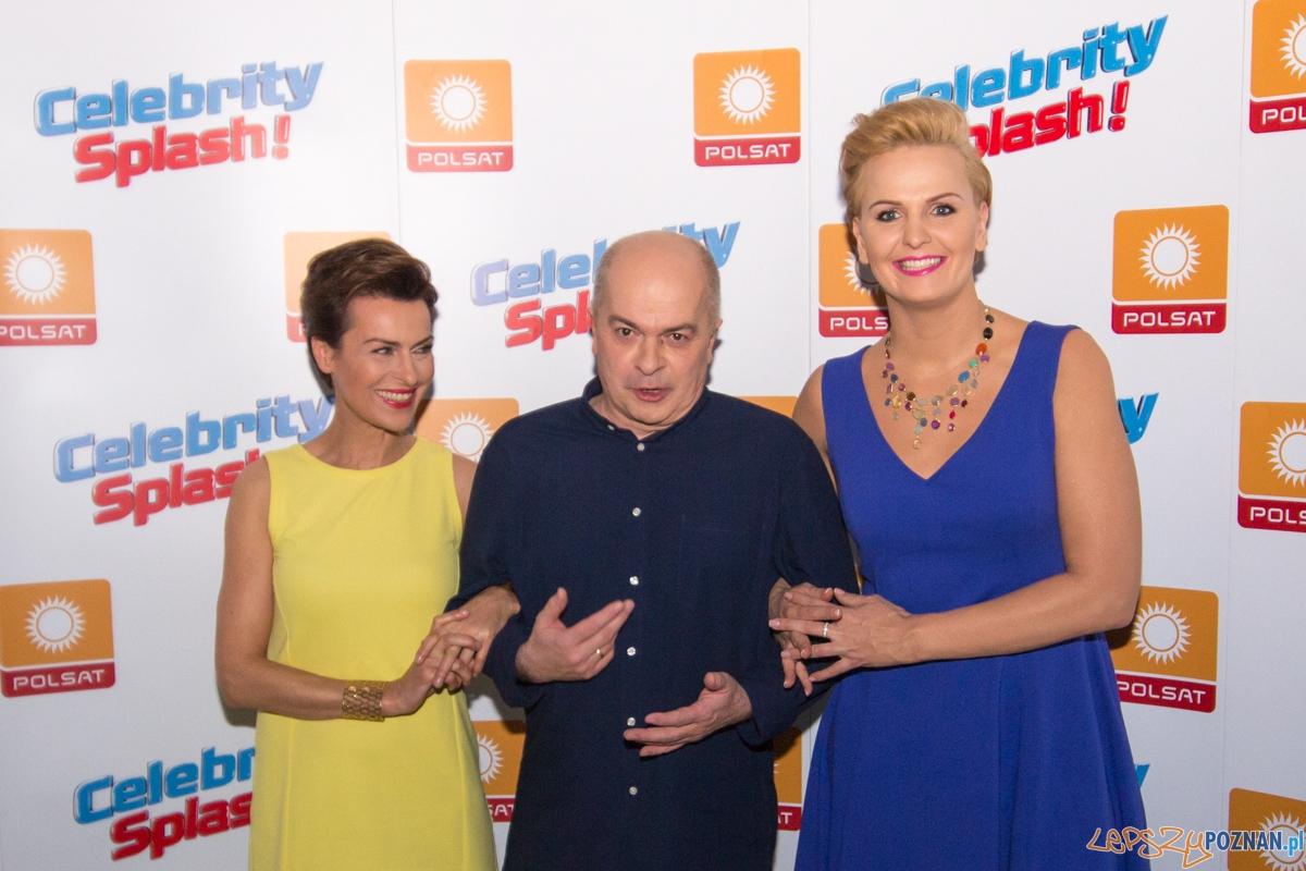 Celebrity Splash - jury programu (Danuta Stenka, Otylia Jędrzejczak, Tomasz Zimoch)  Foto: lepszyPOZNAN.pl / Piotr Rychter