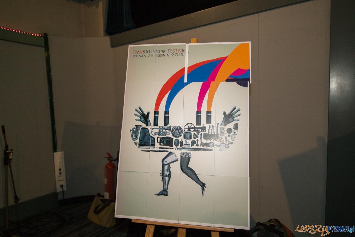 Prezentacja plakatu festiwalu Transatlantyk  Foto: lepszyPOZNAN.pl / Piotr Rychter