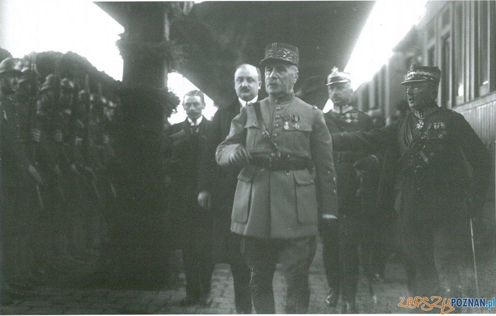 Marszałek Foch na dworcu w Poznaniu 7.05.1923 Foto: internet