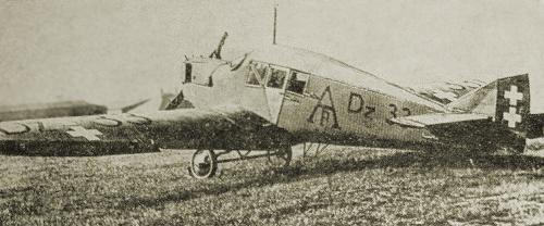 Junkers F 13 ze znakami Aero-Targ wypożyczony od Danziger Luftpost Foto: wikipedia