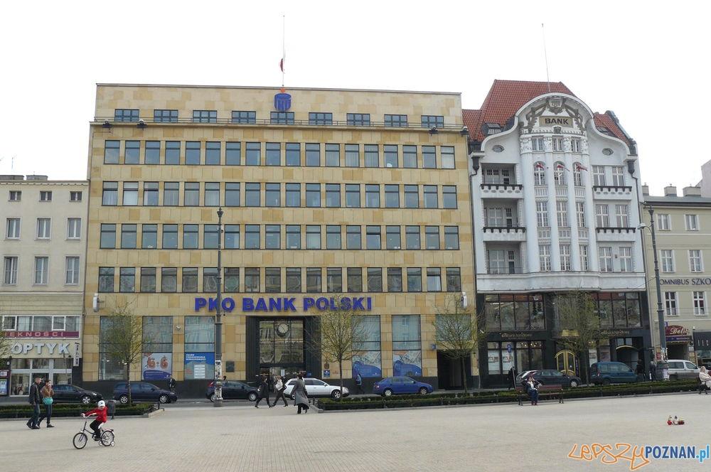 Budznek Banku PKO przy Placu Wolnosci Foto: wiki.poznan.pl
