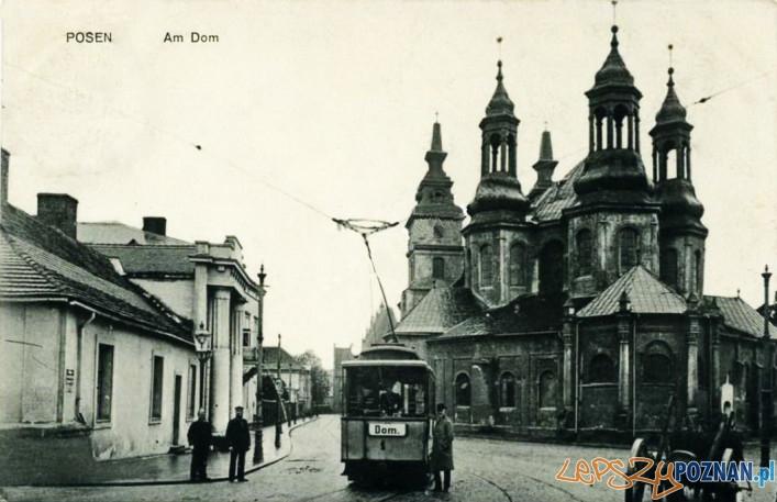 Tramwaj na Ostrowie Tumskim, rok 1910