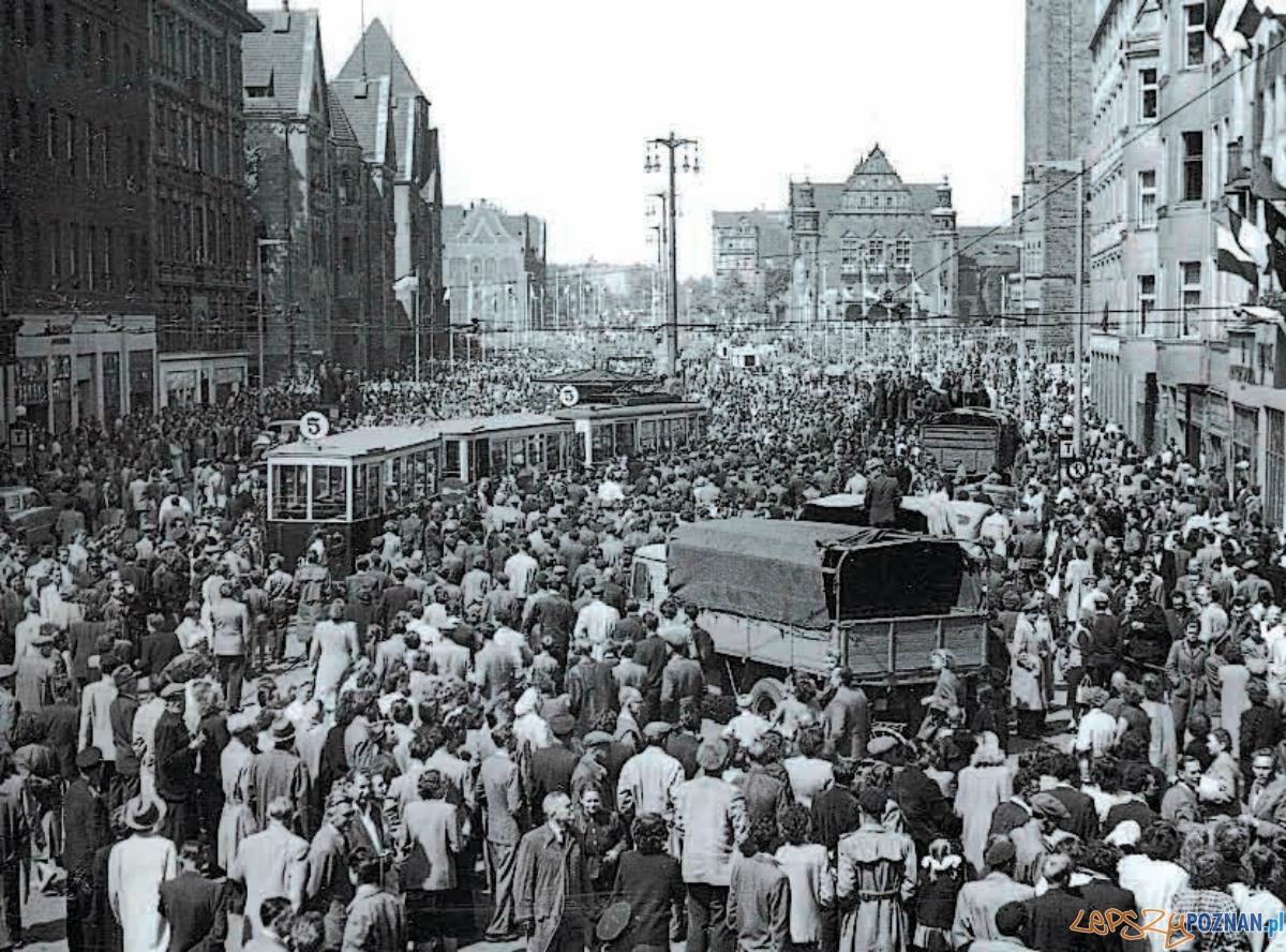 Czerwiec 1956 - Św. Marcin, wtedy była to ul. Czerwonej Armii