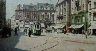 Tramwaj na Starym Rynku - okres okupacja  Foto: fotopolska