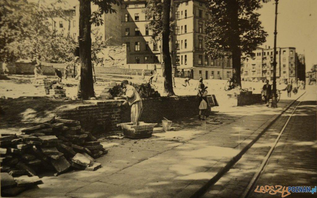 Zieliniec na Półwiejskiej, rok 1950  Foto: Miejski Konserwator Zabytków