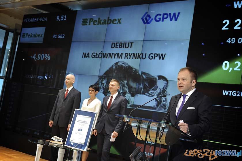 Pekabex zadebiutował na GPW  Foto: GPW