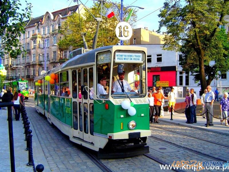 Otwarcie trasy tramwajowej przez Most Rocha