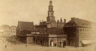 Stary Rynek w Poznaniu z Wagą, Odwachem i kamienicą Pfitznera  1886-1888  Foto: