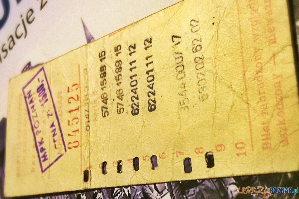 Stary bilet MPK Poznań  Foto: lepszyPOZNAN.pl / TD