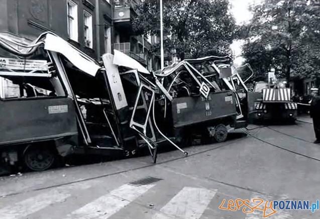 Wilda katastrofa tramwajowa  Foto: Przemysław Adamski / lazarz.pl