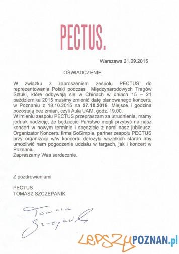 PECTUS - pismo o zmianie terminu