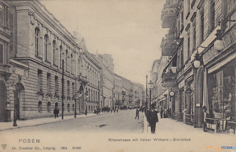 Ritterstrasse - Rycerska w 1905 r, dziś Ratajczaka