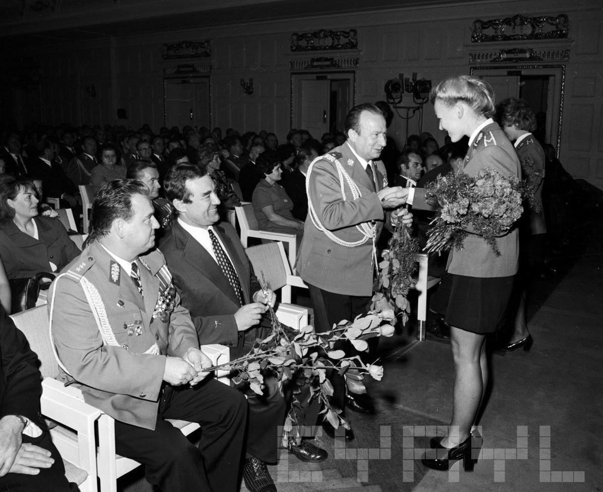 Obchody 30 rcznicy utworzenia Milicji Obywatelskiej - sala Komitetu Wojewódzkiego PZPR - dziś Collegium Historicum