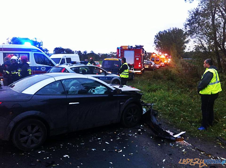 Poważny wypadek w Koninku  Foto: Pomoc Drogowa EuroHol Poznań