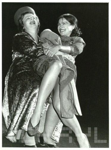 Stanisława Celińska i Danuta Stenka w przedstawieniu Portret w Teatrze Nowym - 19.10.1990