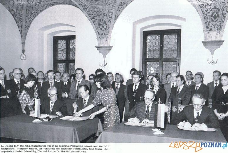 Podpisanie porozumienia Poznan Hannover 29.10.1979