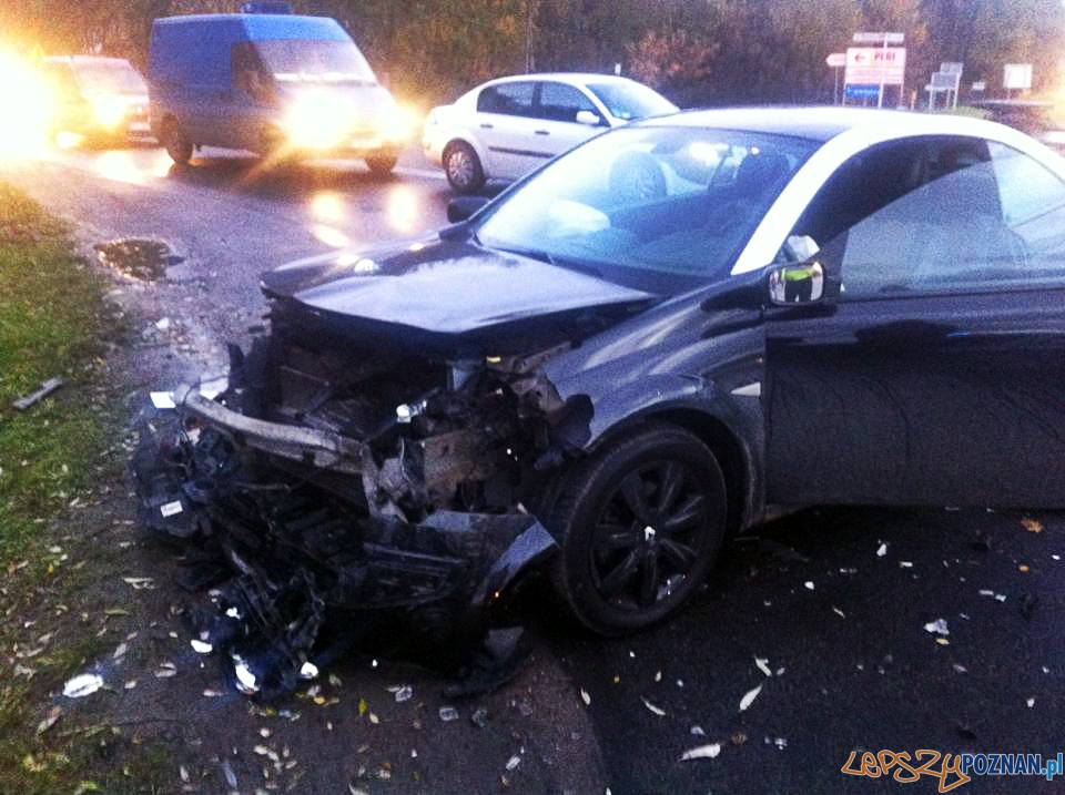 Poważny wypadek w Koninku  Foto: Pomoc Drogowa EuroHol Poznań 503-604-400