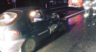 Wypadek na drodze między Kostrzynem a Wrześnią