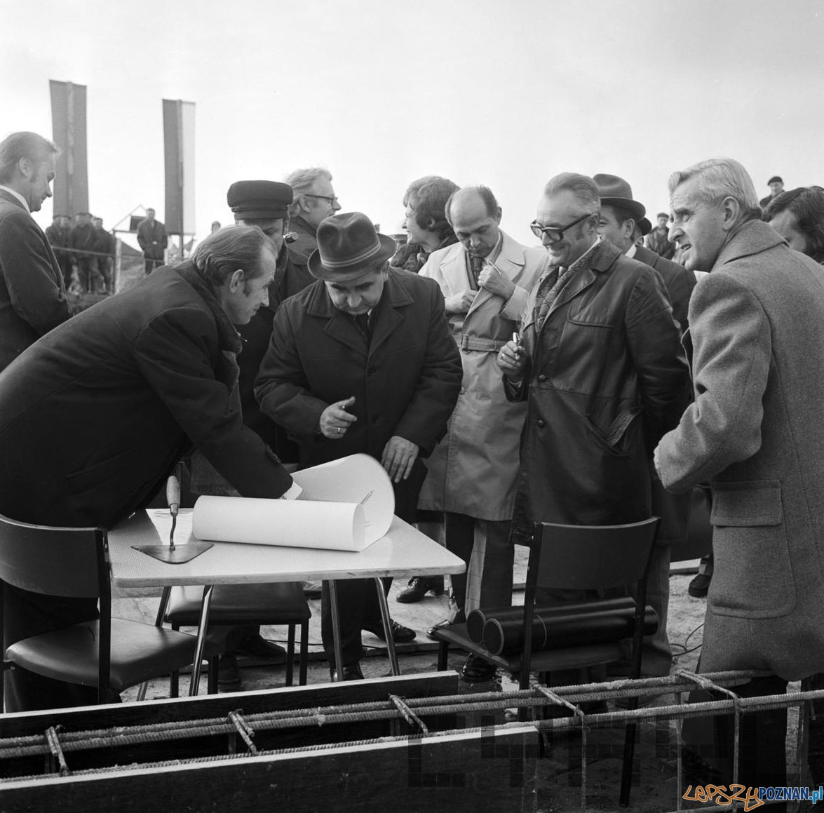 Wmurowanie aktu erekcyjnego - Osiedle Kopernika 4.11.1974  Foto: Stanisław Wiktor / Cyryl