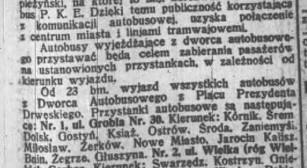 Otwarcie dworca PKS 23.11.1932 Dziennik Poznański