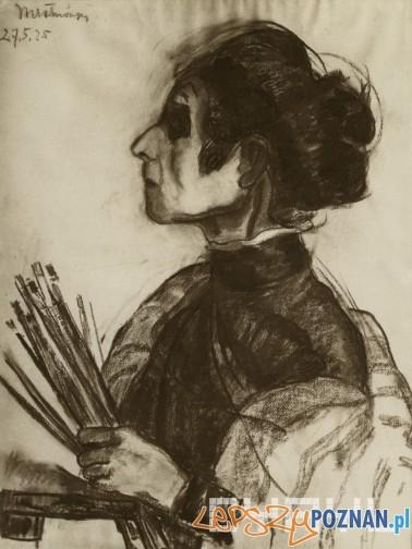 Portrett Olgi Boznanskiej namalowany przez Wandę Chełmońską