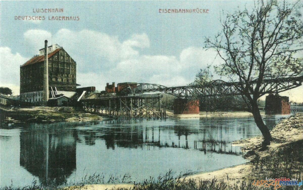 Most Dębiński - Starołęka, koniec XIX wieku