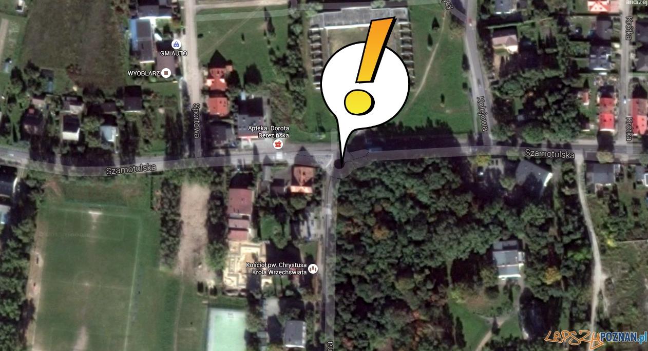 Utrudnienia w Rokietnicy  Foto: Google Maps