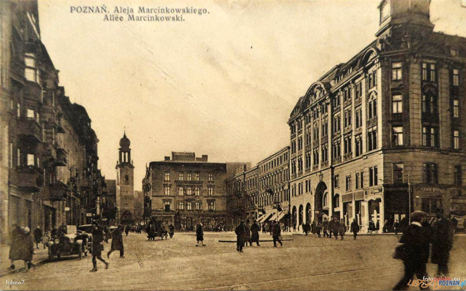 Al. Marcinkowskiego lata 1935-39  Foto: fotopolska