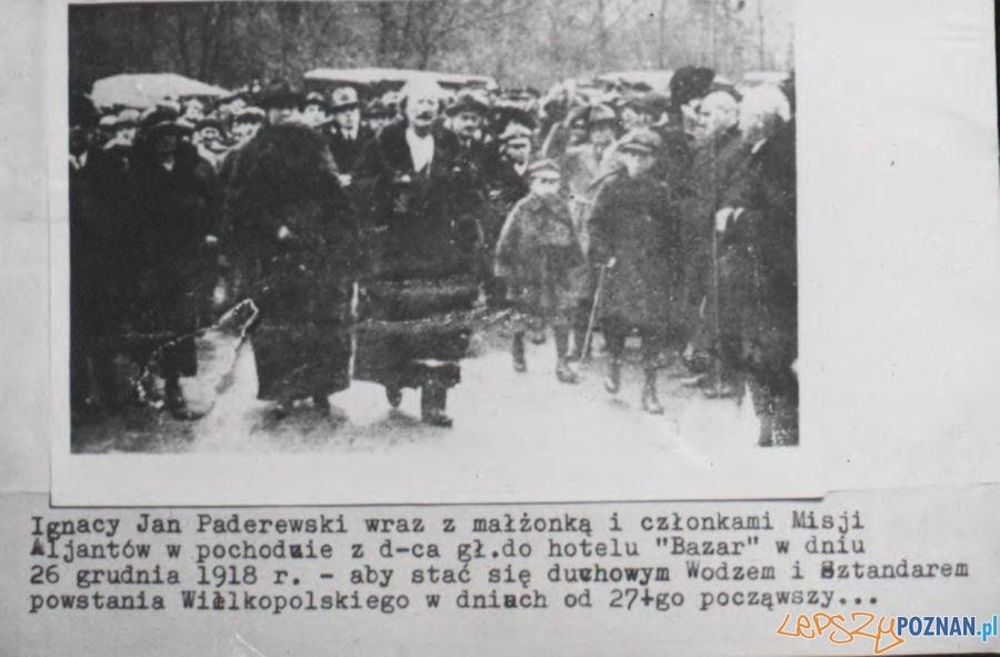 Przyjazd Ignacego Jana Paderewskiego do Poznania 26 grudnia 1919 r.  Foto: Archiwum Państwowe w Poznaniu