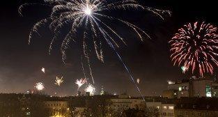 Sylwester 2012 - wybuchy nad Poznaniem - 01.01.2013