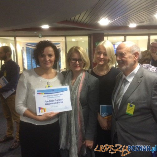 Europejska nagroda dla Fundacji Barka