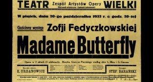 Plakat - Opera Teatr Wielki 1933