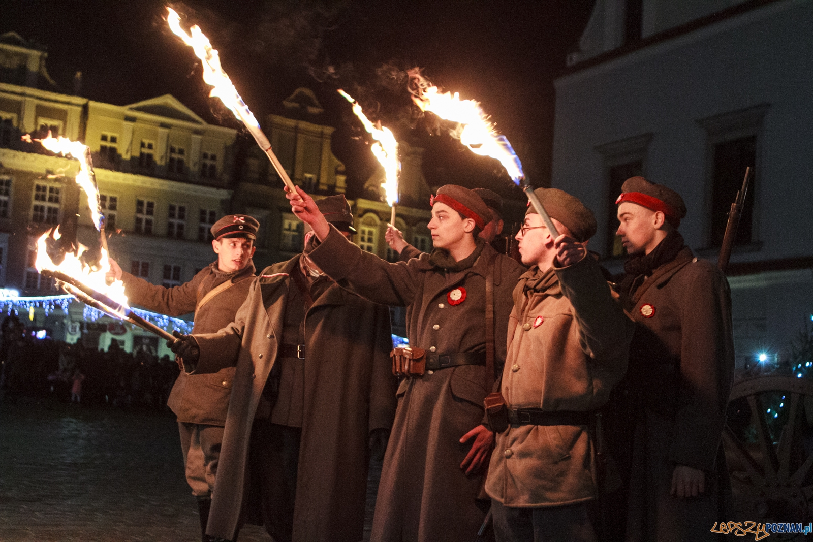 Inscenizacja walk rozpoczynających Powstanie Wielkopolskie 1918  Foto: LepszyPOZNAN.pl / Paweł Rychter