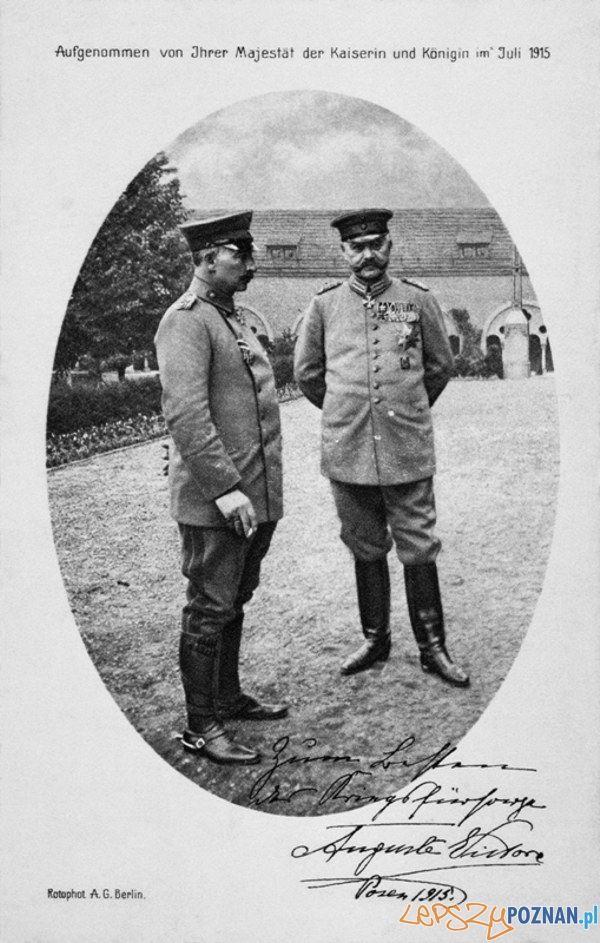 Wilhelm II i Paul von Hindenburg w Ogrodzie Rozanym_1915_600  Foto: