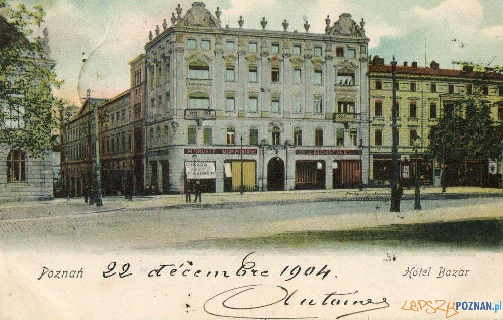 Hotel Bazar w 1904 roku  Foto: Biblioteka Uniwersytecka