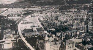 Poznań z lotu ptaka, ok. 1919-20