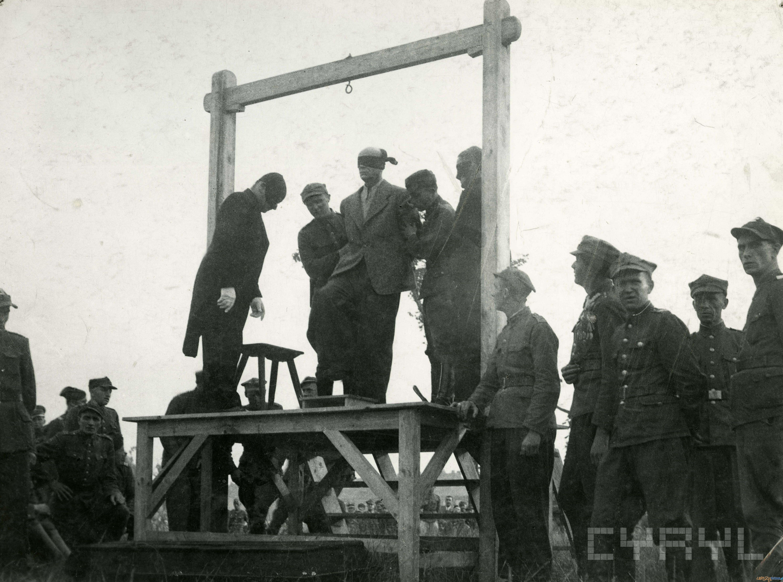 Publiczna egzekucja Greisera na Cytadeli 21.07.1946  Foto: Zbigniew Zielonacki / Cyryl