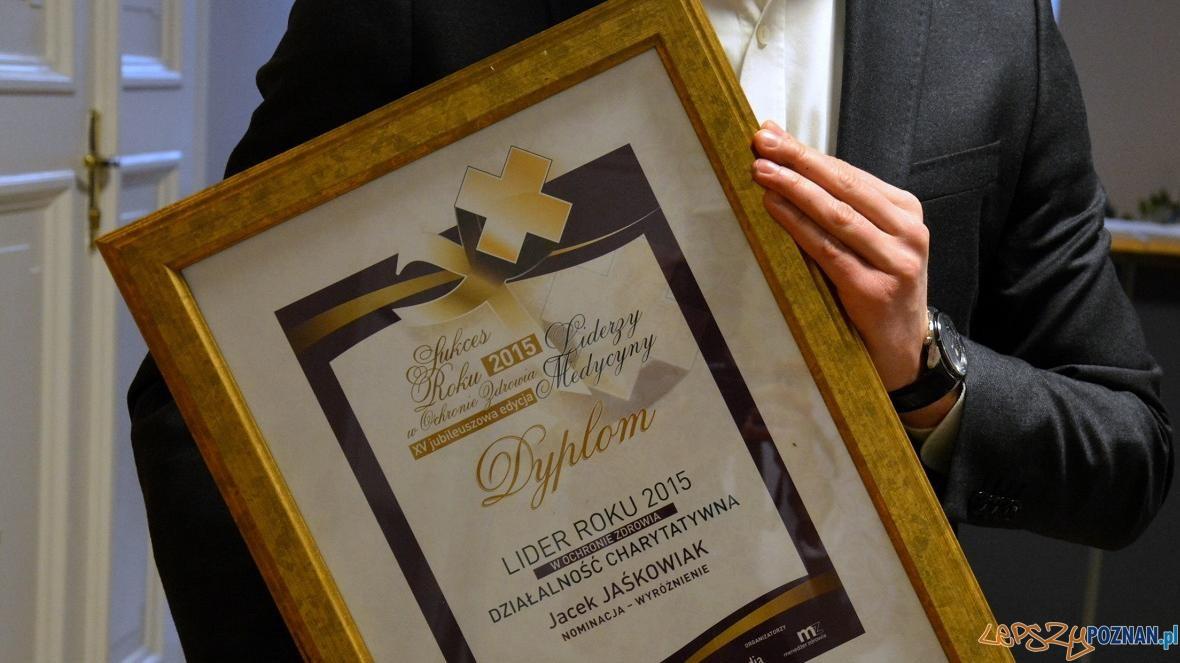 Wyróżnienie dla prezydenta Jacka Jaśkowiaka  Foto: UMP