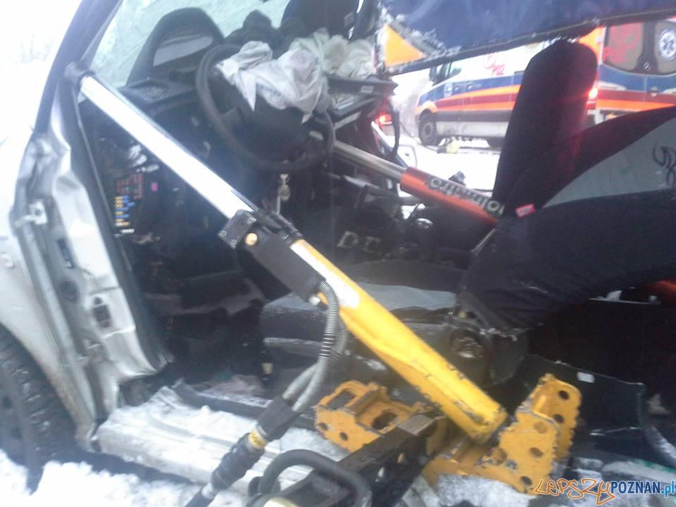 Tragiczny wypadek w Dymaczewie Starym  Foto: OSP Mosina
