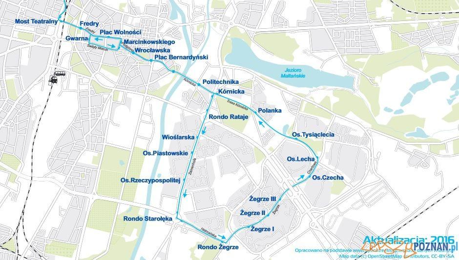 Nocny tramwaj na Ratajach zmienia kierunek