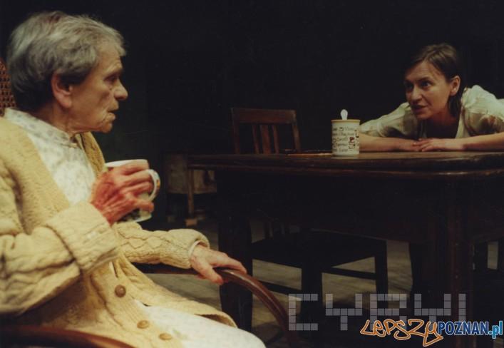 Daniela Popławska i Krystyna Feldman w spektaklu Królowa piękności z Leenane - 1991 r.
