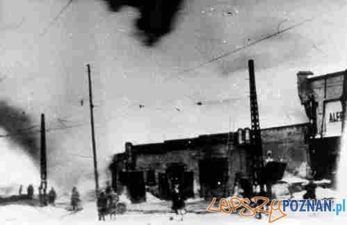 Pożar magazynów nad Warta 21-02-1942. poznan