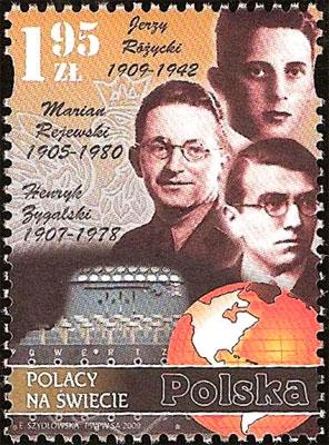 Znaczek -polscy kryptolodzy, którzy rozszyfrowali enigmę
