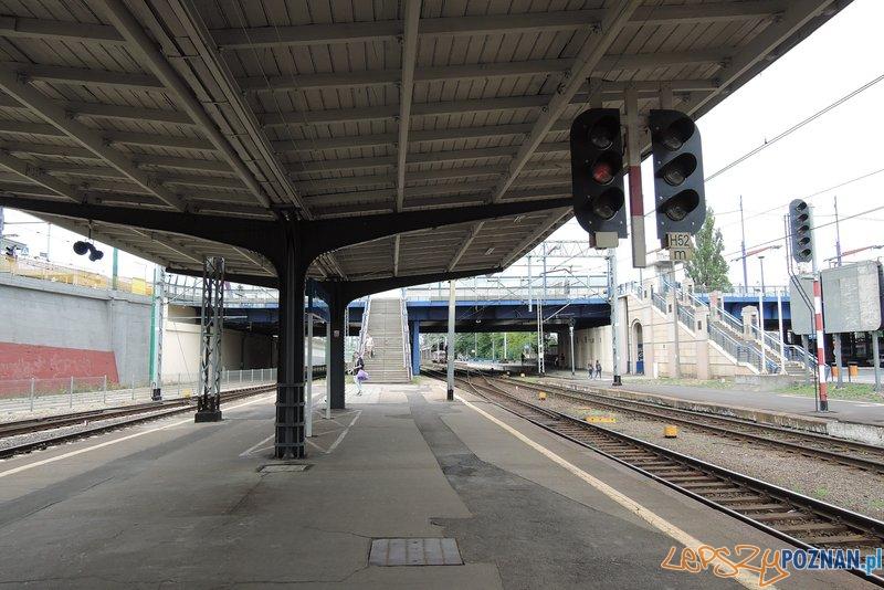 Poznań Główny - 4 perony do przebudowy  Foto: PKP Polskie Linie Kolejowe