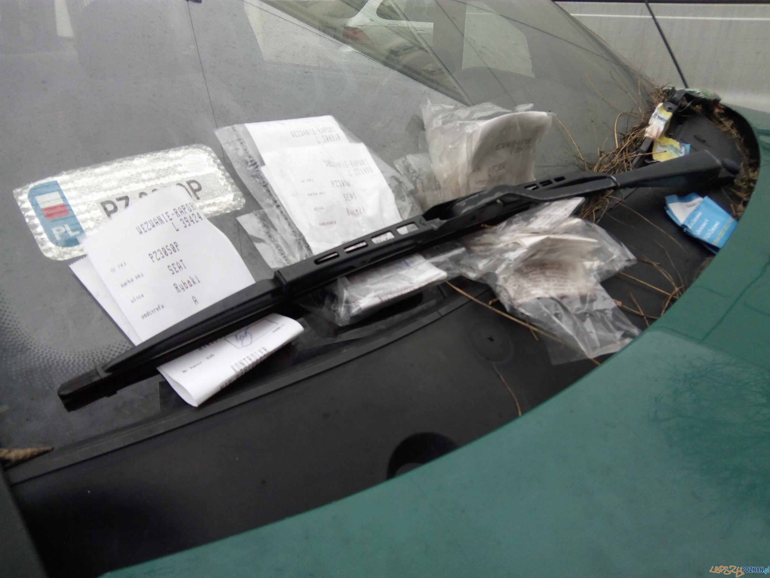 Mandat / wezwanie do zapłaty / strefa parkowania  Foto: © lepszyPOZNAN.pl / Karolina Kiraga