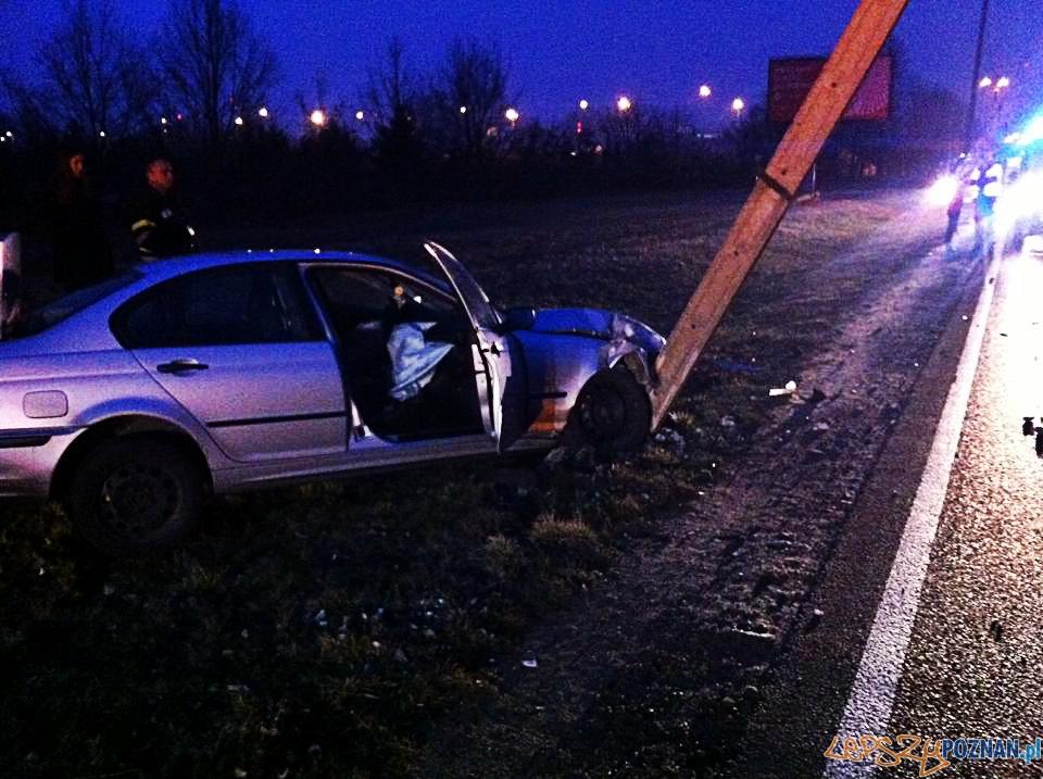 Wypadek na Drodze Dębińskiej  Foto: EuroHol